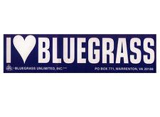 I [heart] Bluegrass bumpersticker