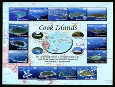 Cook Islands -- Island Aerial Views Sheetlet