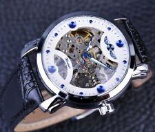 Winner - White - Mens Luxury Mechanical Skeleton Watch - USA SHIPPING -