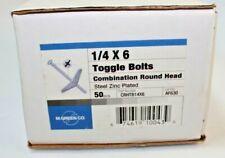 "1/4""-20 X 6"" Zinc Plated Round Head Combo Toggle Bolts (Box of 50)"