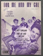 For Me And My Gal Judy Garland Gene Kelly For Me And My Gal cover 2 Sheet Music
