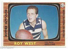 1967 Scanlens (62) Roy WEST Geelong ! Near Mint !