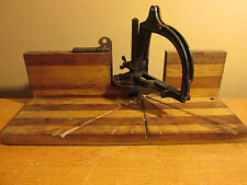 Millers Falls Tools Mfg Hand Saw Mitre Box Antique Cast Tooling