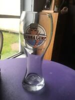 "Bubba Gump Shrimp Co. BEER GLASS 9"" Tall Pilsner From GALVESTON ISLAND TEXAS"