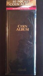80 Pocket Coin Album Holder 2x2 H.E. Harris Protector Book Storage NEW