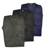 Mens WaistCoat Body Coat Vest Hunting Shooting Safari Size M-2XL
