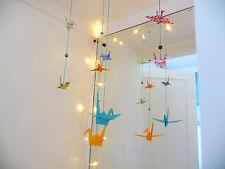 2 cuerdas de precioso Lucky Origami Papel grúas: hecho a mano Hogar Artesanía