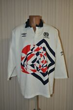 Vintage Umbro 1991-1992 Scotland Rugby Union Away Authentic Shirt Mens XL (HCH)