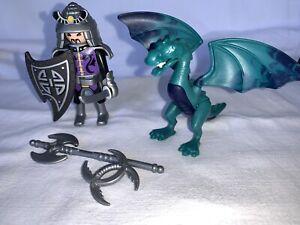 Playmobil Chevalier Et Dragon Du 5609 Chateau Moyen Age