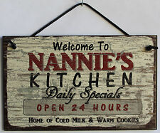 Nannie's Kitchen 5x8 Sign Grandma Diner House Mom Bake Cook Grand Parent Home
