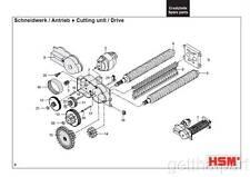 HSM Classic 102.2 102cc 102sc Paper Shredder Oem 48  12 Tooth Gear New