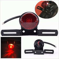 DC12V Motorcycle Bike Round Type License Plate Mount Holder Brake LED Tail Light