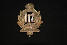 Antique Original Wwi 117 Overseas Battalian Eastern Township Badge Estate Fresh