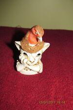 Harmony Kingdom Turdis Felidae Cat With Robin Bird On Head