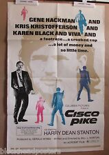 CISCO PIKE~1971~1 SHEET~ORIGINAL~MOVIE POSTER~GENE HACKMAN~KRISTOFFERSON