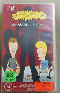 Beavis & Butthead Law Abiding Citizens VHS PAL Rated M+15 45 mins Full Color.