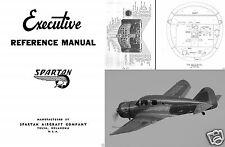 Spartan Executive 1930's 40's Historic Aircraft Manual Period Archive VERY RARE