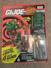 Vintage GI Joe Super Sonic Fighters Rock 'N Roll Machine Gunner Hasbro 1990