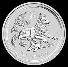 Silbermünze Lunar II Hund 1/2Oz  0,5 Unze 2018 Silber Dog Perth Mint cane silver