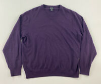 JOS A BANK EXECUTIVE COLLECTION V-NECK SWEATER DARK PURPLE - MEN'S LARGE (L)