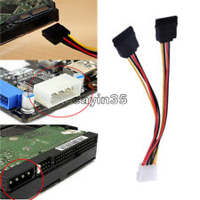 4 Pin IDE Male Molex to Dual SATA Splitter 2 Ports Female Power Adapter Cable UK
