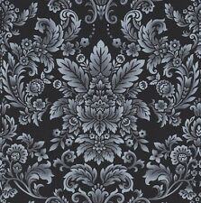 Romance - Foliage Damask - Black by Color Principle for Henry Glass & Co