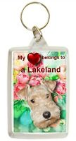Lakeland Terrier Keyring Key Ring heart Lakeland Gift Xmas Gift Stocking Filler