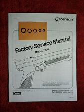 Crosman 1300 Air Pistol One (1) O-Ring Seal Kit + Factory Service Manual + Guide