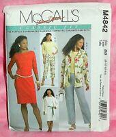 Uncut McCalls Palmer/Pletsch Misses 8-14 Jacket Top Dress & Pants Pattern 4842