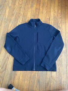 Lululeomon Men's Sojourn Full Zip Jacket Light Gray Zip Pockets- Size M EUC