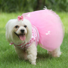 Dog Tutu Dress Butterfly Shirt Pet Puppy Dog Princess Costume Apparel Clothes