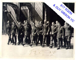 W/Co GUY.GIBSON - & CREWS AT PALACE (SIGNED AT THE TIME) (617 SQDN & DAMBUSTERS)