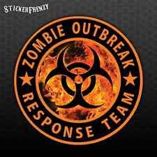 ZOMBIE OUTBREAK RESPONSE TEAM Sticker Fire Biohazard Vinyl Decal Window #FS916