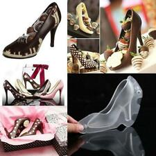 3D High Heel Shoe Chocolate Candy Cake Decor Mould A+! Mold Soap Ice Jelly T3Y3