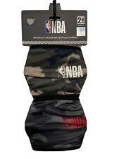 NBA Logo Licensed Team Face Covering Mask Reusable 2 Pack Camo Retail$ 29.99