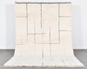 ❤ Authentic Beni Ourain Carpet White Berber Carpet Moroccan Carpet 100% Wool Rug
