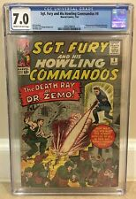 SGT. FURY AND HIS HOWLING COMMANDOS #8 CGC 7.0 1ST DOCTOR BARON ZEMO APPEARANCE