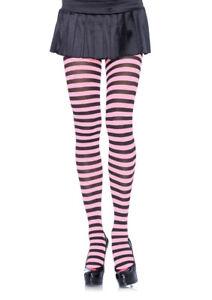 Leg Avenue 7100 Tights Striped Opaque Pantyhose