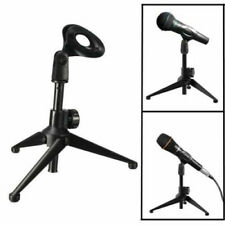 Foldable Desk Microphone Stand Mic Tabletop Stand Holder for Meetings Lectures