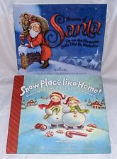 Lot of 2 Stories of Santa & Snow Place Like Home Hallmark Hardcover Dust Jacket