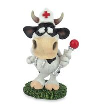 Les Alpes 014 81504 Kuh Krankenschwester 11 cm Kunstharz Dekofigur Kuh Berta
