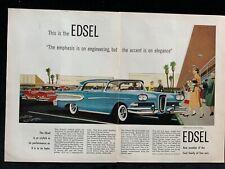 New ListingE Ford Edsel Citation 2 Door Hardtop 1957? Ad 2 pg 11 1/2 x 8 1/2