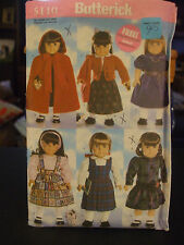 """Butterick 5110 18"""" Doll Clothes Pattern"""