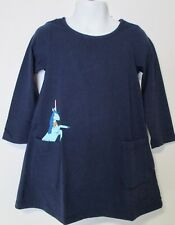 Hanna Andersson Girl Unicorn Navy Art Pocket Dress NWT