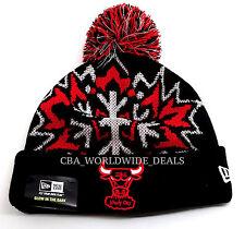 New Era NBA Chicago Bulls Glowflake Glow in the Dark Knit Pom Beanie - One Size