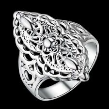 Unique & Elegant Pure 925 Sterling Silver Charms Ring Size: 8 #016-P