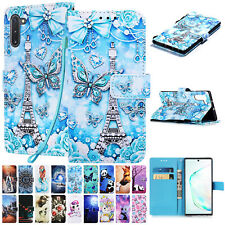 For Samsung Galaxy Note 10/10 Plus Magnetic Flip Leather Wallet Strap Case Cover