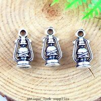 40pcs Antique Silver Alloy Oil Lamp Charms Pendants Jewellery Findings 51246