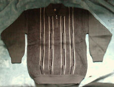 Pull Raoof marron rayé XXL (Pullover brown lined)