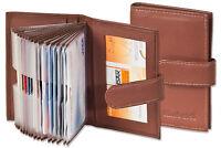 Rimbaldi® Kreditkartenetui in Braun mit verstärkten Fächern aus feinem Leder